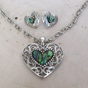 Abalone Sterling Heart Necklace Host Pick🎉